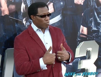 Expendables 3 movie premiere sly stallone signing autographs wesly snipes   1