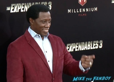 Expendables 3 movie premiere sly stallone signing autographs wesly snipes   11