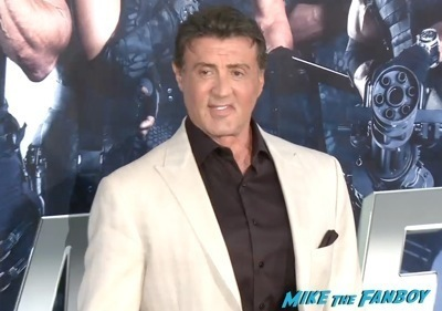 Expendables 3 movie premiere sly stallone signing autographs wesly snipes   14