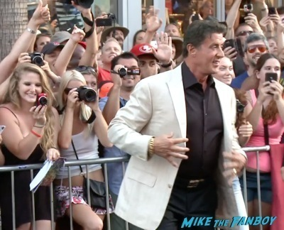 Expendables 3 movie premiere sly stallone signing autographs wesly snipes   22