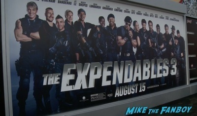 Expendables 3 movie premiere sly stallone signing autographs wesly snipes   29