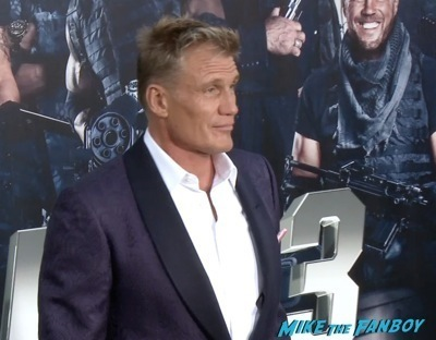 Expendables 3 movie premiere sly stallone signing autographs wesly snipes   4