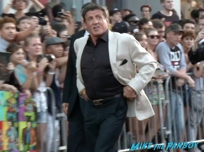 Expendables 3 movie premiere sly stallone signing autographs wesly snipes   5