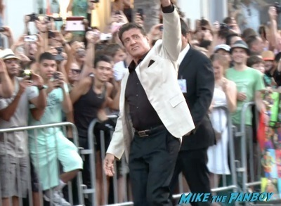 Expendables 3 movie premiere sly stallone signing autographs wesly snipes   7
