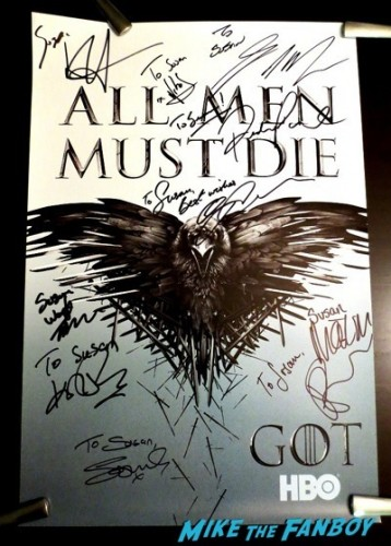 Game of Thrones SDCC Autograph signing kit harington hot rare  1