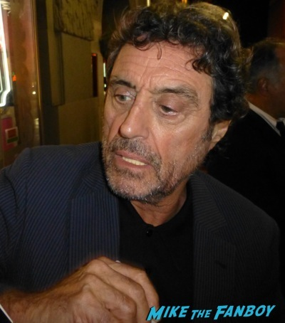 Ian McShane signing autographs fan photo rare promo hot