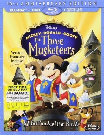 Mickey, Donald, Goofy: The Three Musketeers blu-ray cover 1
