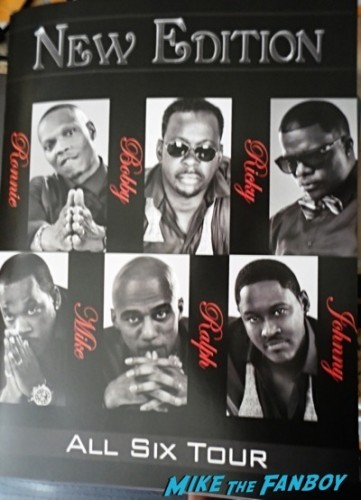 New Edition live in concert now fan photo bobby brown selfie signed autograph  8