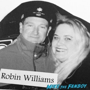 Robin Williams Fan Photo meet and greet signing autographs   1