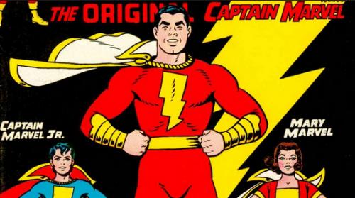Shazam original comic book art rare captain marvel