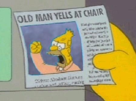 Simpsons - old man