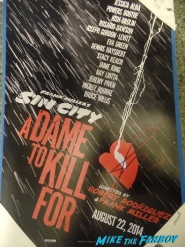 sin city 2 a dame to kill for signed autograph poster rare