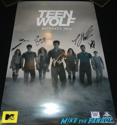 Teen Wolf signed autograph poster rare  Cast autograph signing sdcc 2014 tyler posey1