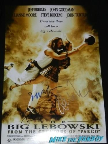 the big lebowski signed autograph poster jeff bridges john goodman