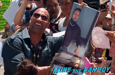 dwayne johnson the rock signing autographs camp pendleton hercules screening 5