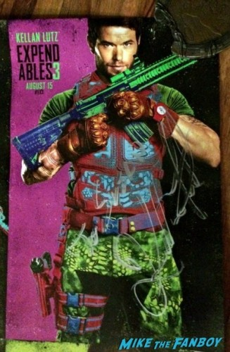 expendables 3 one sheet poster signed autograph kellan lutz sdcc 2014  5