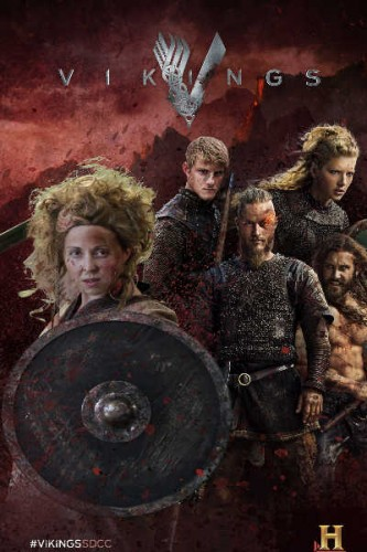 My Vikings poster with that EPIC HAIR! (Photo courtesy of History Channel)