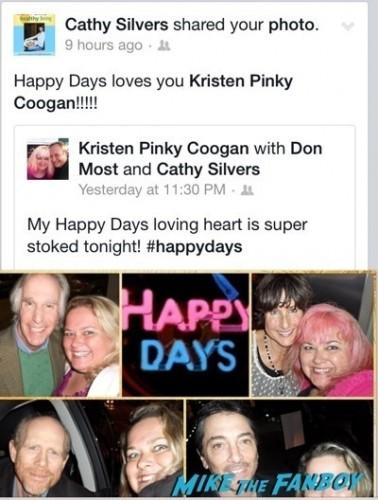 happy days cast fan photo selfie signing autographs rare  1