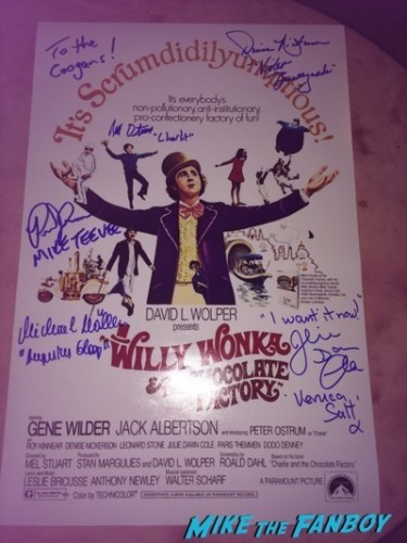 willy wonka kids  signed autograph poster now fan photo signed autograph poster  1