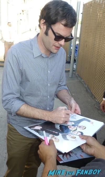 Bill Hader Signing Autographs for fans jimmy kimmel live 2014 californians 1