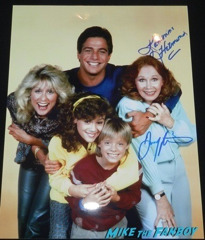 who's the boss? cast photo signed autograph katherine helmond danny pintaro