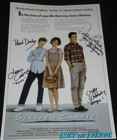 sixteen candles signed autograph mini poster rare promo