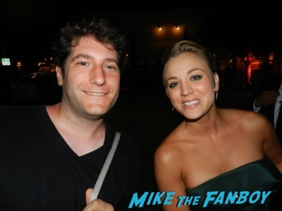 kaley cuoco Emmy Party signing autographs fan photo rare   18