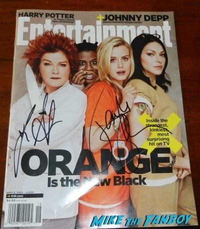 orange is the new black signed entertainment weekly magazine cover