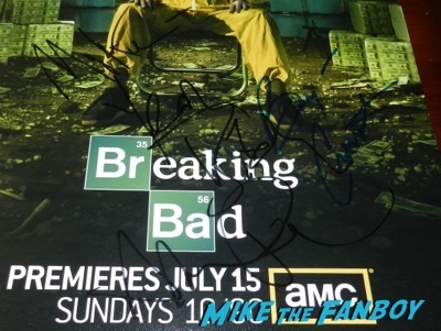 aaron paul bryan cranston signed breaking bad poster
