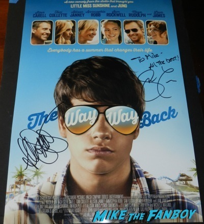 Allyson Janney steve carrell the way way back signed mini poster