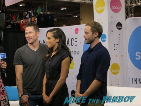 Luke MacFarlane, Hannah John-Kamen, Aaron Ashmore from Killjoys