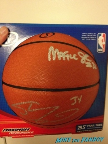 Magic Johnson signed autograph basketball autograph signing frank and sons fan photo rare  4