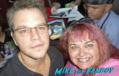 Matt Damon signing autographs fan photo selfie rare 5