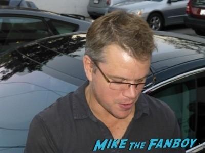 Matt Damon signing autographs jonathan silverman 2014 weekend at bernie's 15