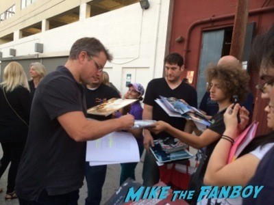 Matt Damon signing autographs jonathan silverman 2014 weekend at bernie's   15