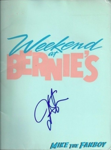 Jonathan silverman signed weekend at bernie's press kit