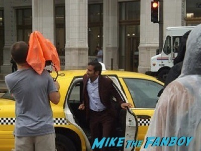 Parks and Recreation filming on location in Chicago chris prat Aziz Ansari 22
