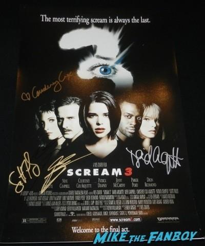 Patrick Dempsey signed scream 3 poster signing autographs jimmy kimmel live 2014  8