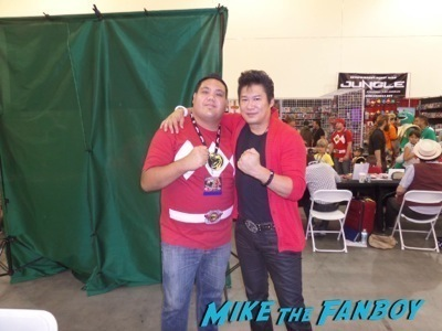 Tyranno Ranger 02 2 Power Morphicon convention pasadena CA meeting Austin St john fan photo selfie   8