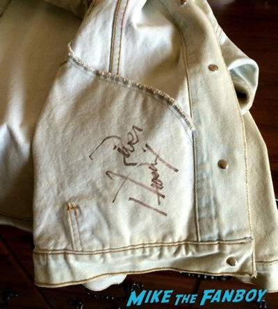 River Phoenix signed autograph jacket signing rare 1