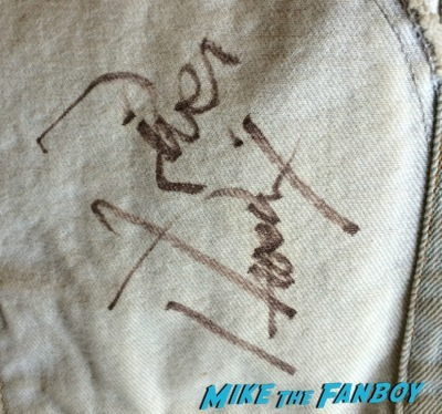 River Phoenix signed autograph jacket signing rare 1
