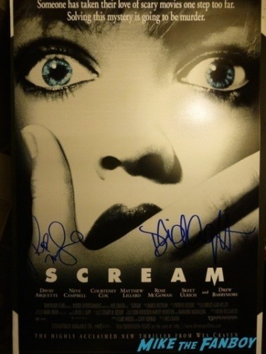 Rose McGowan signed scream poster Signing Autographs  Dawn Festival scream star rare now  4