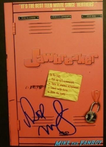 Rose McGowan signed jawbreaker dvd insert cover