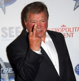 william shatner flipping people off william shatner is a dickhead