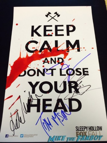 Sleepy Hollow cast signed poster contest