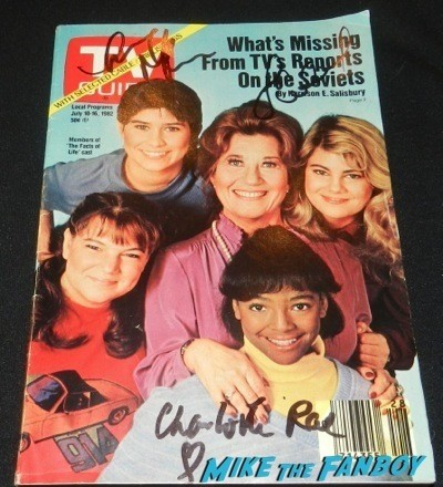 Facts of life signed autograph TV Guide magazine cover The Facts Of Life 35th anniversary reunion nancy Mckeon lisa whelchel   59