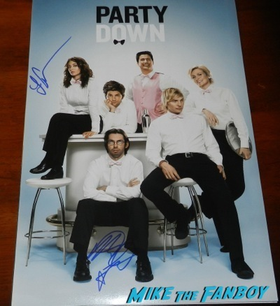 party down poster lizzy caplan martin star signed autograph