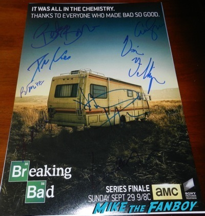 breaking bad signed autograph final season rare mini poster Laura Fraser  signing autographs celebrities signing autographs emmy awards parties autograph signature 1