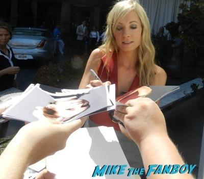 Joanne Froggatt  signing autographs celebrities signing autographs emmy awards parties autograph signature 9