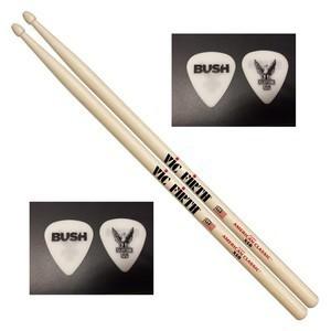 bush signed drumsticks Bush band on the run signed cd sleeve rare